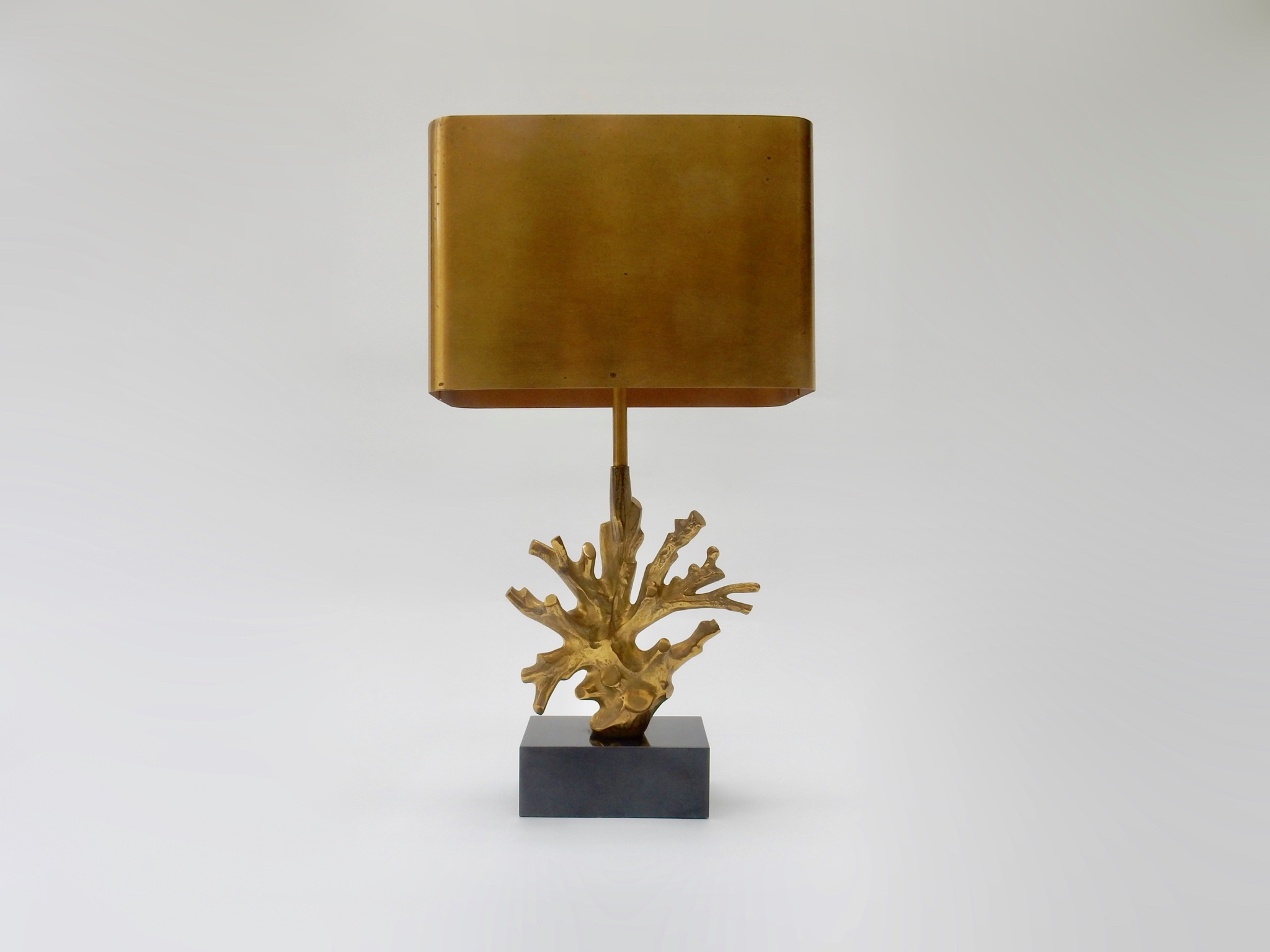 Sold - Bronze Coral Table Lamp