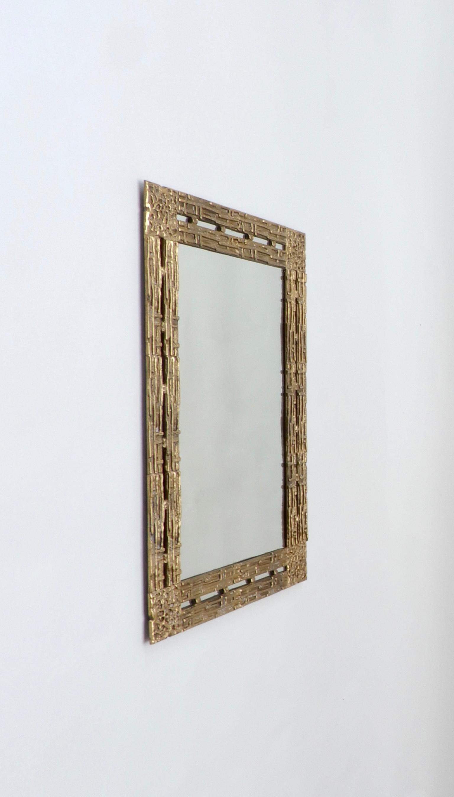 Sold - Italian Brass Mirror