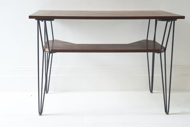Sold - Wood and Metal Desk