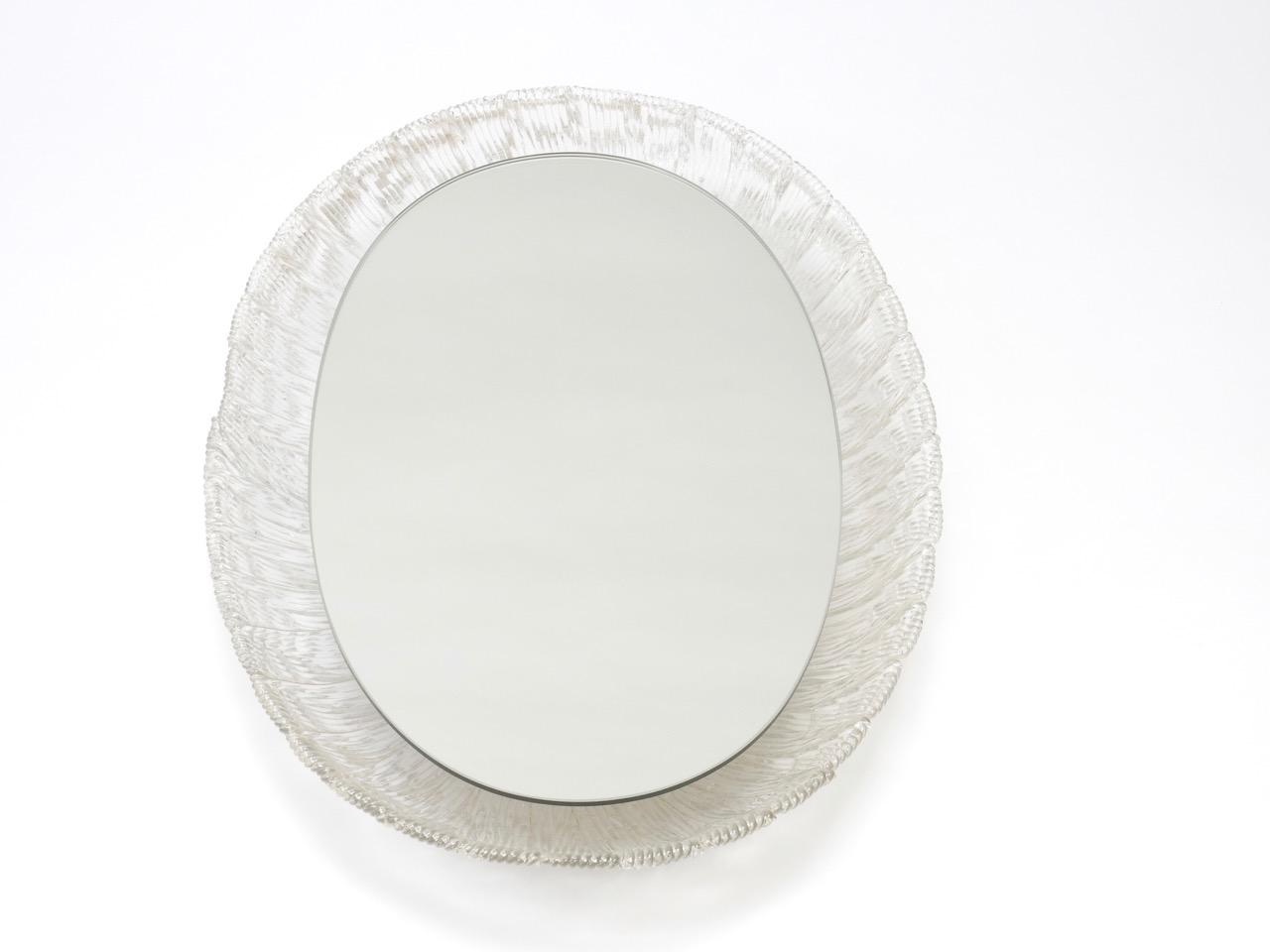 Sold - Illuminating Lucite Mirror (oval)